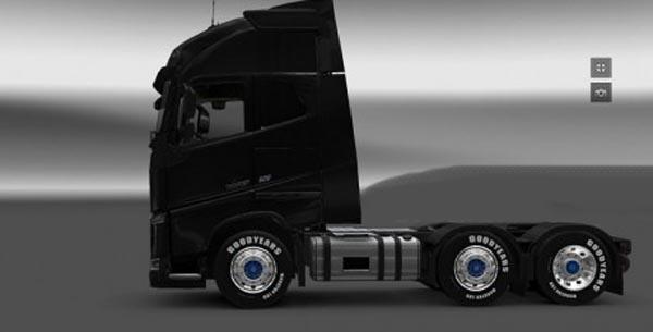 Goodyear Blue Wheels