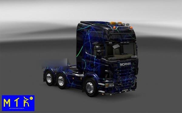 Skin Scania Blue Smoke