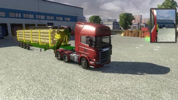 Trailer with Timber Crane