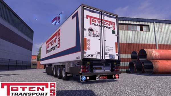 Chereau Toten Transport Trailer Skin
